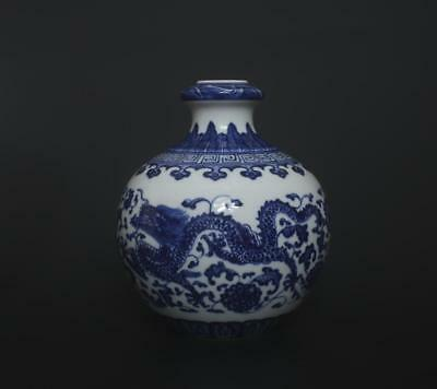 Superb Antique Chinese Porcelain Blue And White Wine Pot Qianlong Marked