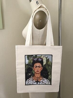 New Cotton Canvas Tote Shopping Bag graphic Frida Kahlo Reusable Eco Friendly
