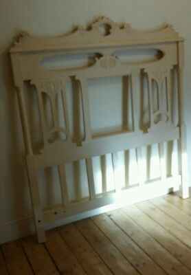 Victorian double bed headboard