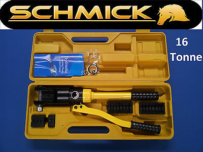 SCHMICK HEAVY DUTY HYDRAULIC SWAGER SWAGE TOOL for STAINLESS WIRE ROPE CRIMPING
