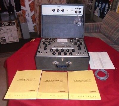 Vintage Heathkit Mutual Conductance Tube Tester TT-1/TT-1A with Manuals