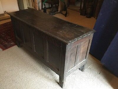 Antique 17th Century Oak Coffer