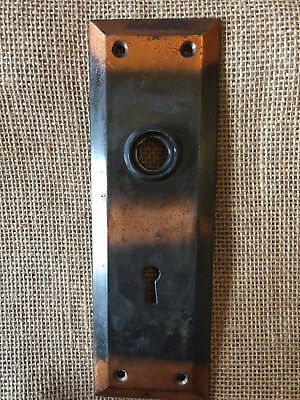 "Antique Flashed Copper Door Plate 2 1/4"" x 7"""