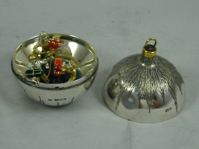 STUART DEVLIN , solid silver `SURPRISE CHRISTMAS TREE HANGING BALL`  1983, 97gm