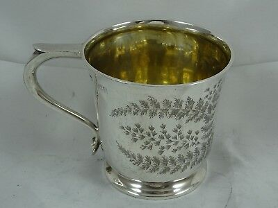 EDWARDIAN  solid silver CHRISTENING MUG, 1905, 95gm