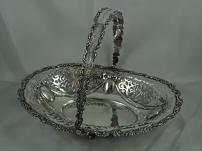 STUNNING, VICTORIAN solid silver FRUIT BASKET, 1899, 574gm