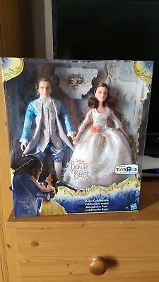 Beauty and the beast. belle and the prince dolls