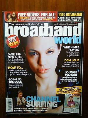 'Broadband World' magazine Issue 2, Angelina Jolie, Elvis Presley, Rick Gervaise