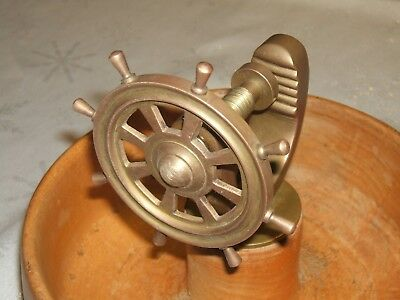 Ships Wheel Nutcracker with Bowl Yacht Sailing Boat Helm