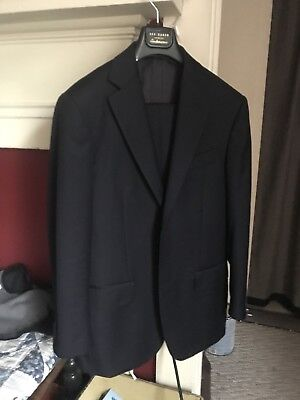 SUITSUPPLY Suit Supply 36S Fully  Navy Blue Suit Amazing Shape