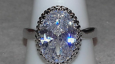 CANDICE romantic round shaped AustralianWeiß Crystal 925 sterling silver pl Ring