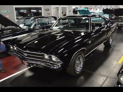 1969 Chevrolet Chevelle  1969 Chevrolet SS 396 BUILT nice black on black CLEAN Collector