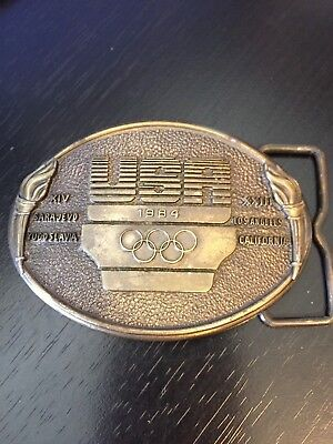 USA 1984 Olympic Belt Buckle XIV Sarajevo XXIII Los Angeles US Olympic Committee