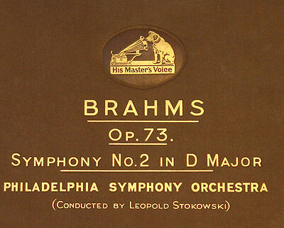 PHILADELPHIA ORCHESTRA & STOKOWSKI Brahms: Symphony No. 2 in D Major  78rpm A153