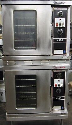 Double Stack High Production Electric Convection oven two ovens Phase 3 208 volt