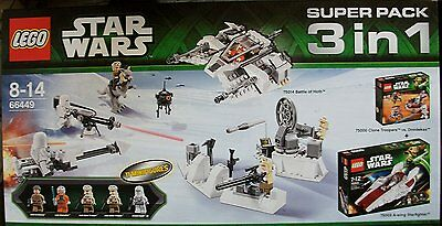 Lego 66449 Star Wars Super Pack 3 in 1 // beinhaltet 75000 + 75003 + 75014 NEU