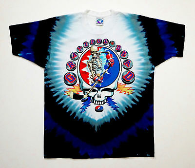 Grateful Dead Shirt T Shirt Hockey Stick Puck Gloves NHL 1994 Tie Dye XL New NWT