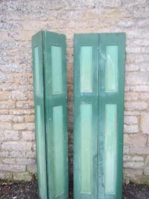 Vintage Wooden Shutters French Folding Bi Fold Reclaim Cladding  176 Cm Tall