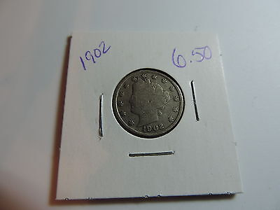 1902 US American Nickel coin A486