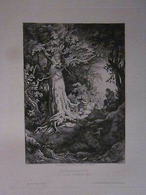 LUDWIG ADRIAN RICHTER – Sommerabend, 1892 Etching