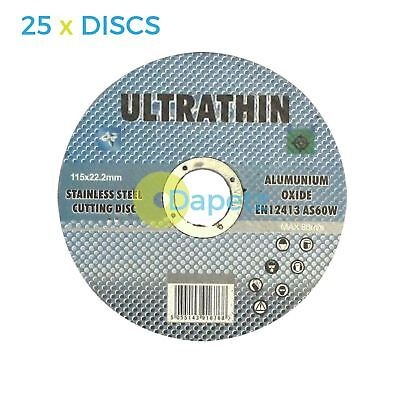 """25 x 115mm 4.5"""" ULTRA THIN 1MM METAL CUTTING BLADE DISC 4 1/2"""" STEEL ANGLE GRIND"""