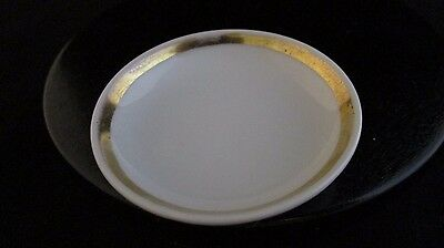 Vintage Gilded White Porcelain Haviland Limoges Salt Cellar Butter Pat France