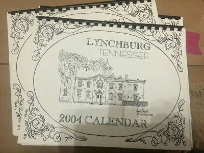 Limited Edition Lynchburg Tennessee 2004 Calendar  - Whiskey