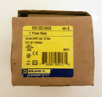 Schneider Electric Power Relay 40A 277VAC 120V 50/60HZ New in Box!!