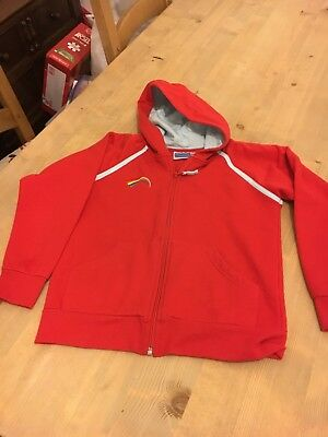 Official Rainbows Uniform Zip Up Hoodie / Hooded Jacket. Red. Size Large