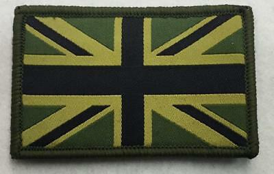 Union Jack Patch MTP Style Badge TRF Military Army  Green Sleev velcro  N-342
