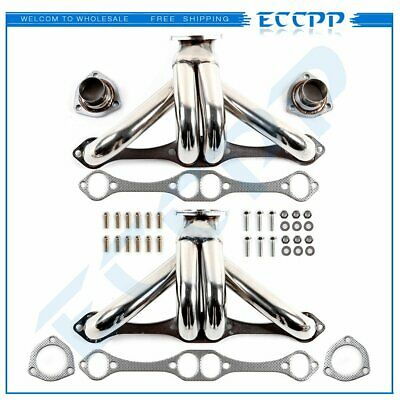 For Chevy Small Block Hugger Shorty Stainless Steel Header Manifold/Exhaust