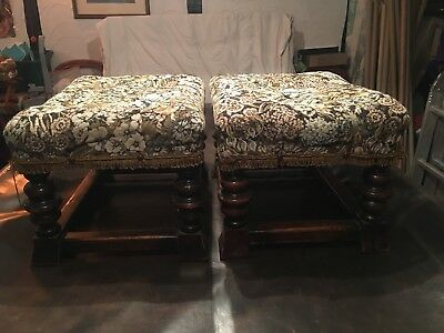 A pair of Victorian foot stools.