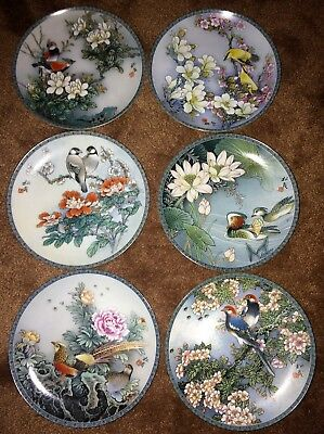Imperial Jingdezhen Plates Blessings From A Chinese Garden Set Of Six