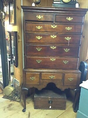 18th Century New England Queen Anne  Highboy Tall Chest