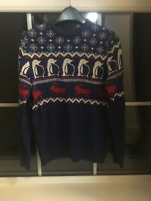 boys childs next xmas jumper size 14 years party office gift christmas top