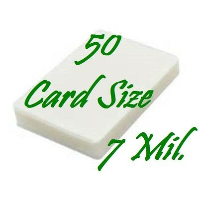 Laminating Laminator Pouches Sheets Card Size {50 pc} 7 Mil (2-3/4 x 4-1/2)