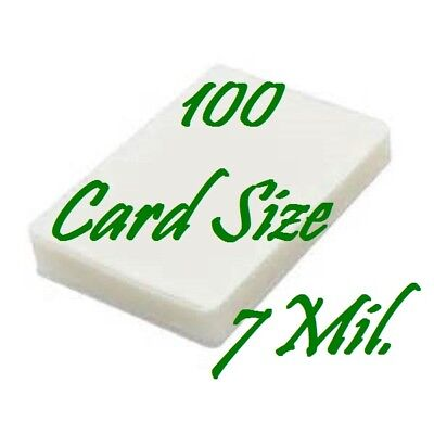 Laminating Laminator Pouches Sheets Card Size {100 pc} 7 Mil (2-3/4 x 4-1/2)