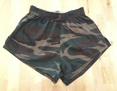 NOS! Boys Vintage 80s U.S. ARMY Camouflage Camo Gym Shorts ARTEX Large 14-16 USA