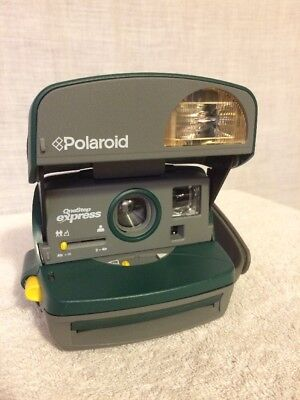 Polaroid One Step Express 600 Instant Photo Cameras. Green. Super Clean!