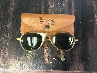 Vintage Light Tortoise Shell American Optical Calobar Sunglasses/ With Case