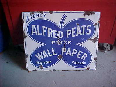 Alfred Peats Prize Wallpaper Porcelain advertising sign