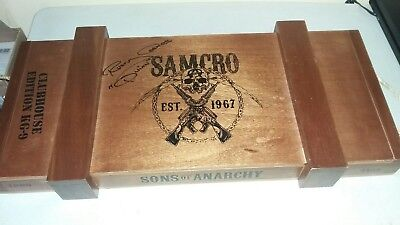 Sons of Anarchy.KG9 Clubhouse Limited Edition Cigar Box. SAMCRO. Rare.Motorcycle