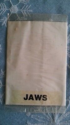 Original Jaws Movie  Poster From Cereal Box 1970's Unopened With Gum