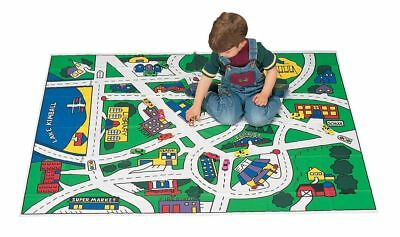 Toy Car Mat Floor For Kids Plastic Play Room Fun Girls Boys Carpet Rug Large