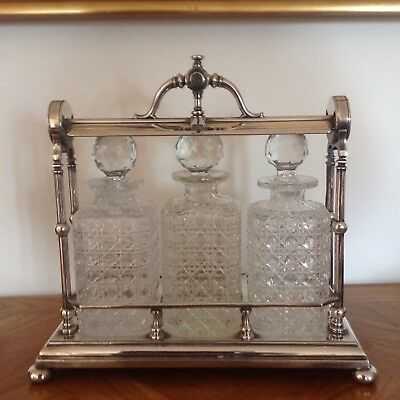 Silver plated Victorian Tantalus.