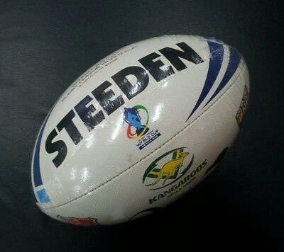 Steeden Rugby League World Cup Australia 2008 Size 5 All Team Logo Ball NRL *NEW