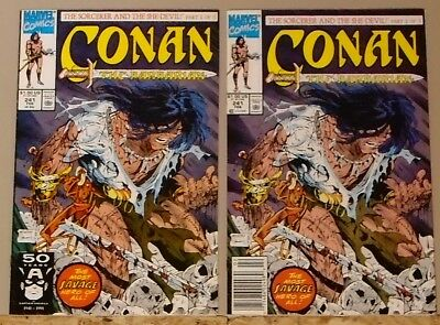 Conan the Barbarian #241 direct edition & newsstand variant McFarlane cover