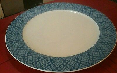 LAURA ASHLEY SALLY LARGE PLATTER /MEAT  PLATE  BLUE & WHITE[ unused]