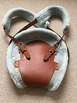 Bill Amberg Leather Sheepskin Papoose Baby Carrier