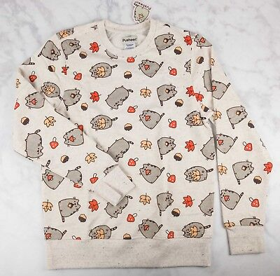 NEW Pusheen Sweater Sweatshirt Pullover -Fall 2017 Subscription Box EXCLUSIVE XS